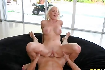 Naughty Blonde Housewife Fucks Her Young Lover