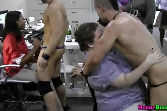 Partying Women Become Sluts And Suck Male Stripper's Cocks