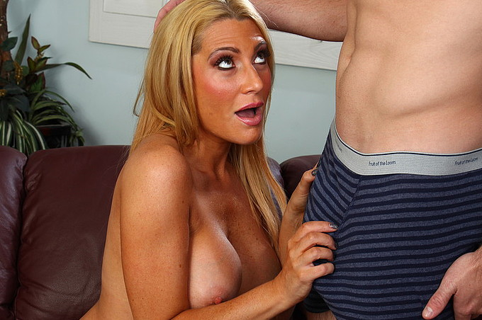 Blonde Milf Jennifer Best Gets Her Shaved Pussy Fucked.