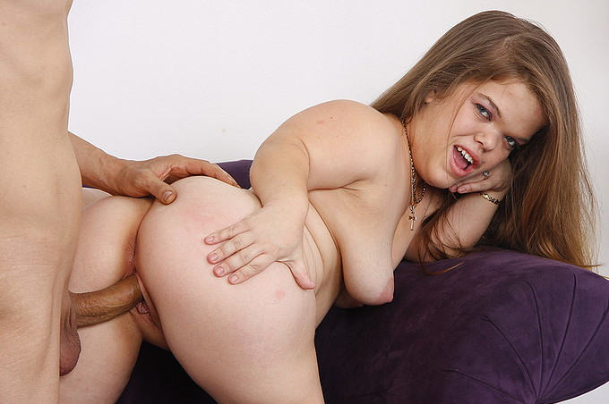 Mini Midget Miya Takes A Full Grown Dick