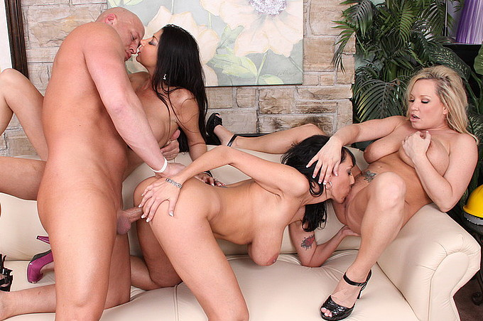 Nasty Ass Whores Take Turns Fucking Lucky Guy