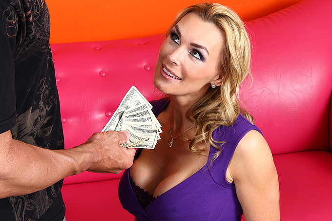 Tanya Tate Gets Her Tight Bald Twat Stuck By Lee Stone