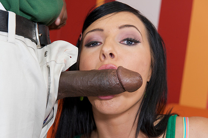 Black Dude Ace Enjoys Drilling Brunette Ashli Orion