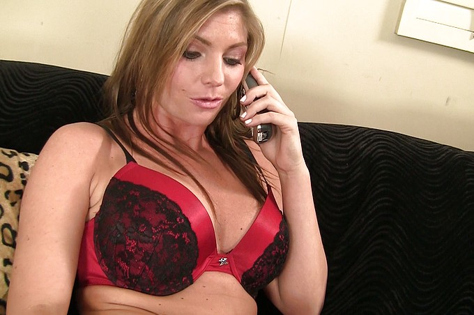 Cutie On The Phone Gets Interrupted By A Big Hard Cock