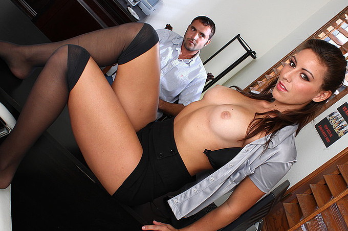 Rilynn Rae's Exotic Day At The Corporate Office