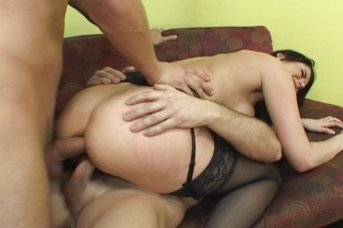 Double Penetration By Two Strong Horny Men