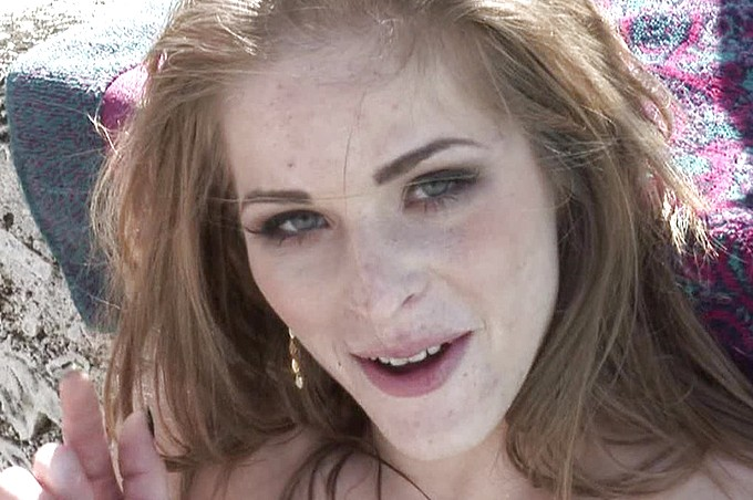 Red Bra Ginger Snow Fucked Nude By Levi Cash Hard Fucking