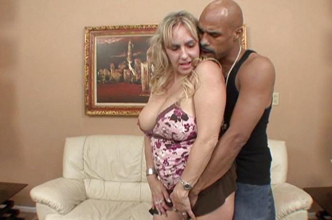 Interracial Sex Scene With Two Older Partners