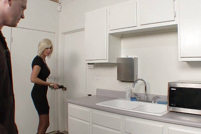 Puma Swede Surprises Joe Blow The Plumber On The Job