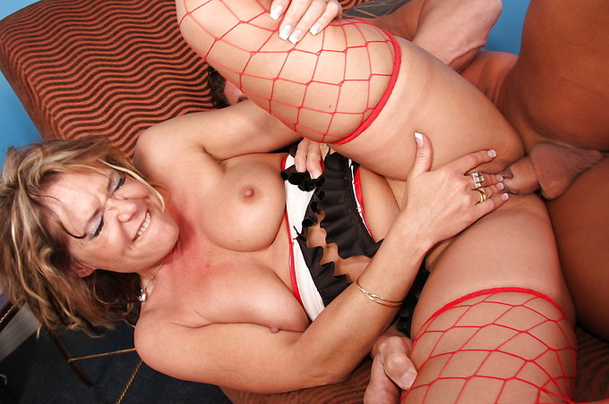 horny cougar fucks and sucks a cock for the holidays