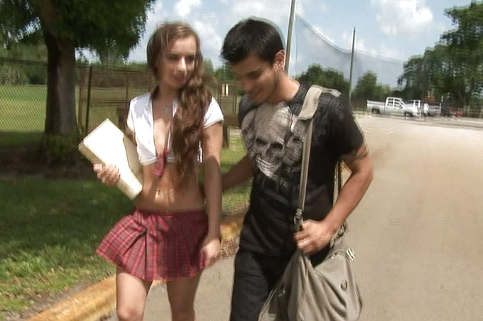 Richie Deville Gets His Hands On A Horny Schoolgirl.