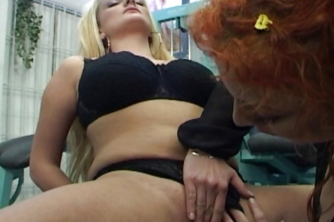 Lesbians Play Around With Pussy Power Drill