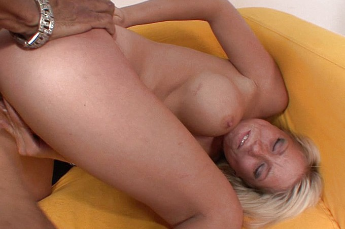 Busty Blonde Experiments With Interacial Sex