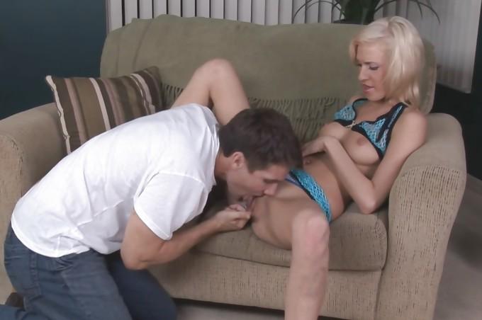 Skinny Blonde Ella Marie Takes On Her First Big Cock