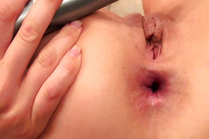 Hot Nurse Pleasures Herself In Ass With Dildo.