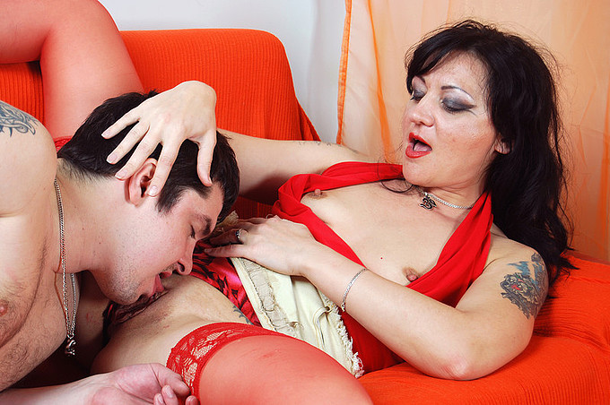 Seductive Svetlana In Red Takes On A Cock