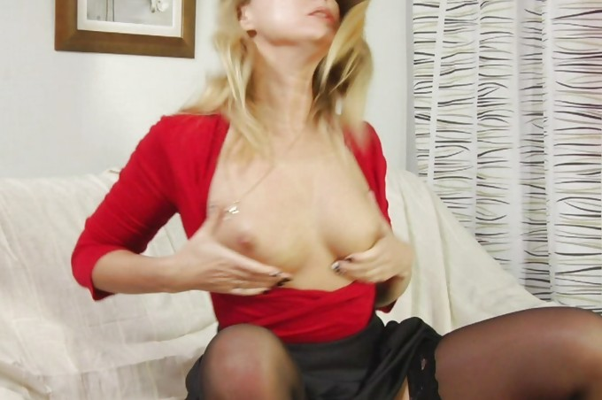 Alluring Anna Wears Sheer Stockings During Sex