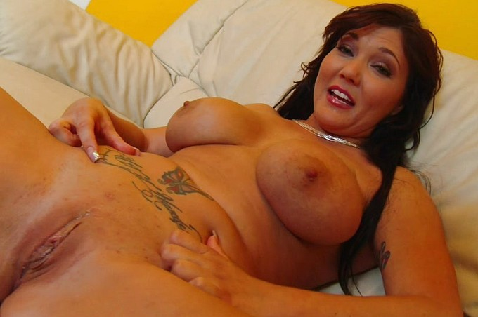 Claire Dames Gets Spunk All Over Her Big Melons From Marco Rivera