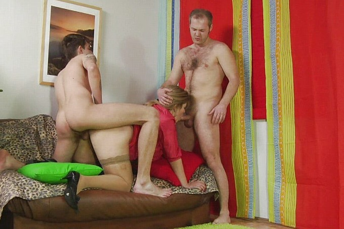 Hot Milf Natalia Gets Fucked Her By Two Men