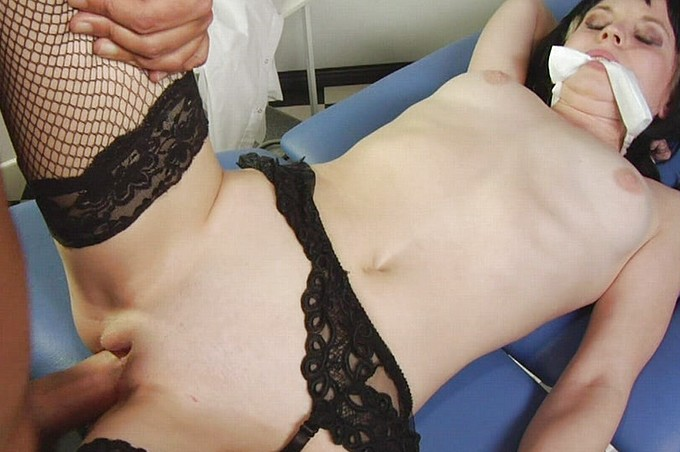 Brunette Having Some Fun At The Doctors Office