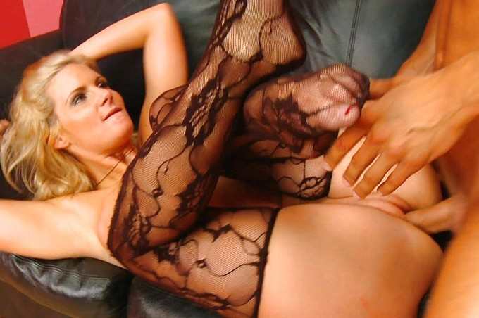 Beautiful Hot Blond In Lingerie Takes It Hard