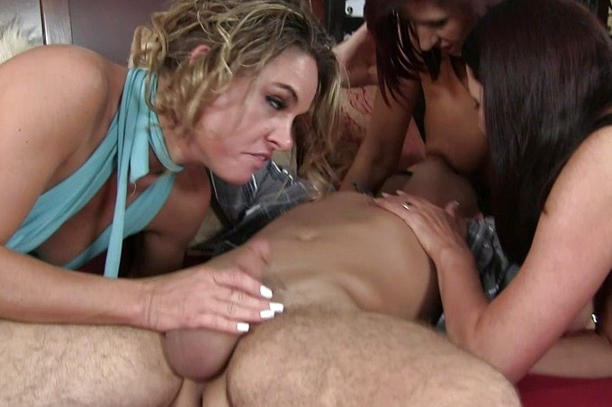 Three Porno Sluts See If Just One Man Can Satisfy All