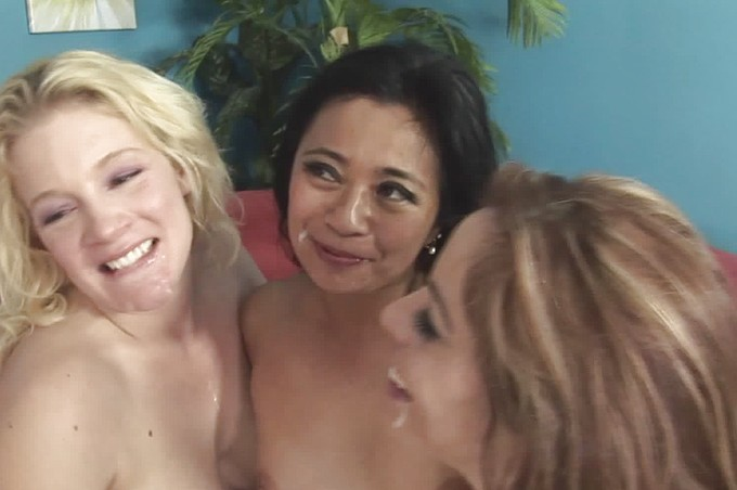 Three Horny Milfs Take On One Lucky Cock