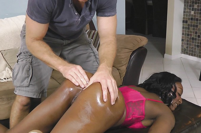 White Dick Pleases Chanel's Thick Black Ass