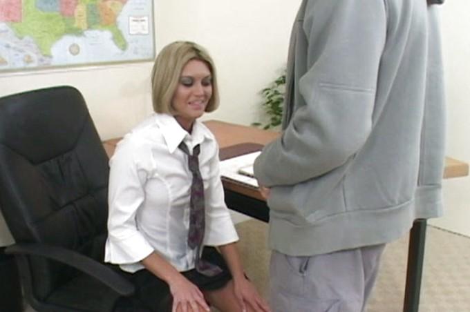 Slutty Secretary Adrianna Amante Wants A Promotion Bad