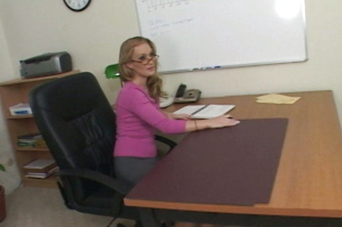 Hot Blonde Secretary Gets Fucked By Her Boss