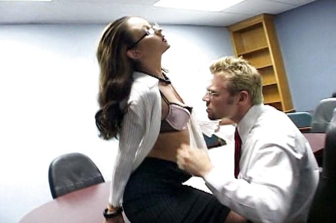 Erik Everhard And Jordana James Get Naughty In The Office