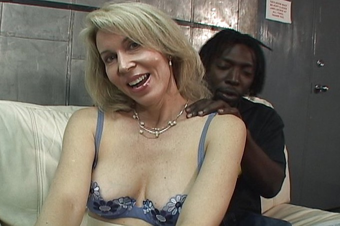 Mature Blonde Whore Is Begging For A Black Cock