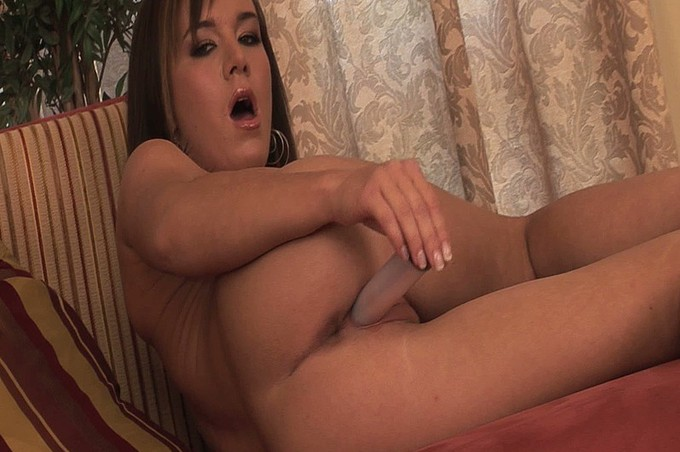 Horny Brunette Plays With Her Wet Tight Pussy
