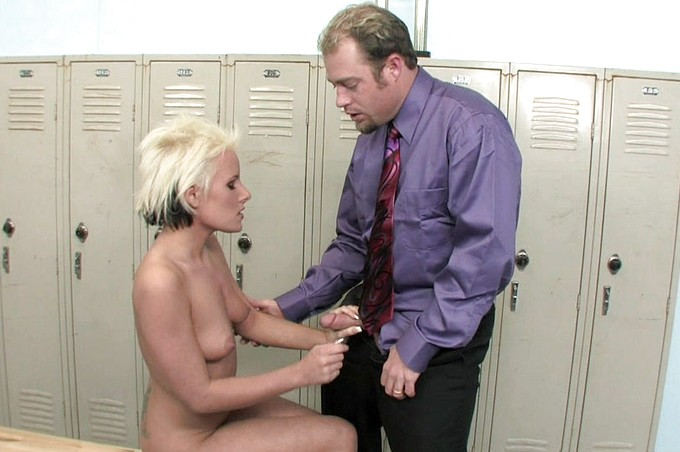 Female Student Fucked In Locker Room By Her Coach