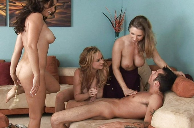 Are Three Hot Naked Girls Enough To Satisfy Joey Brass?