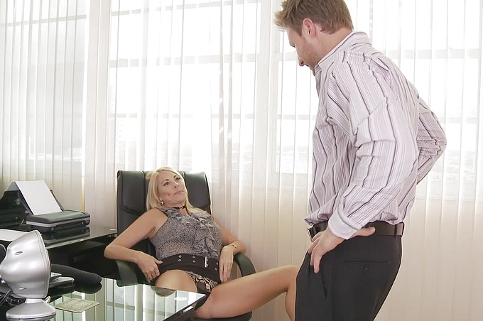 Sexy Blonde Secretary Finally Seduces Coworker