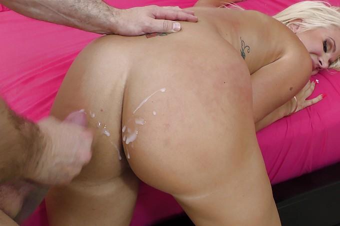 Layla Price Gets Her Beautiful Butt Cum-Glazed!
