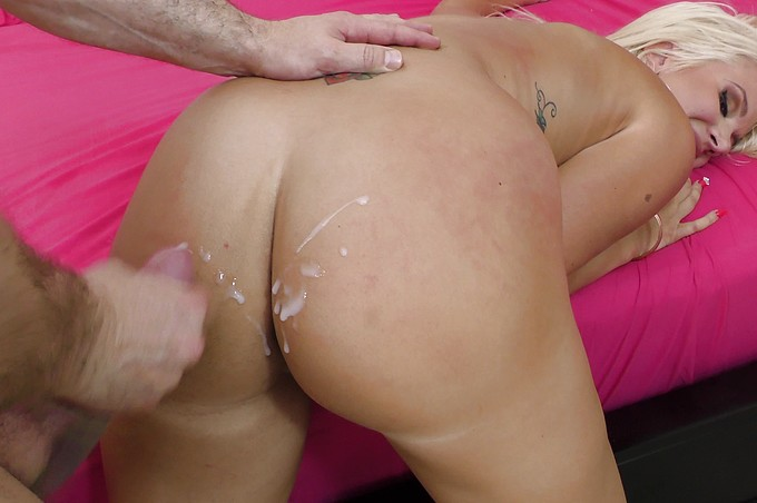 Layla Price Gets Her Beautiful Butt Cum-Glazed!