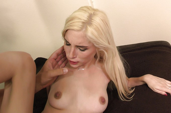 Tiny Blond Spinner Piper Perri Gets Stretched Out!