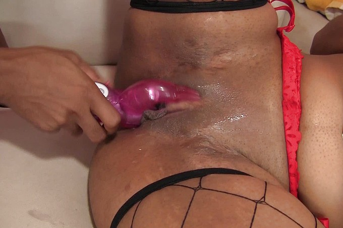 Two Ebony Lesbians Get Down And Dirty With Vibrators