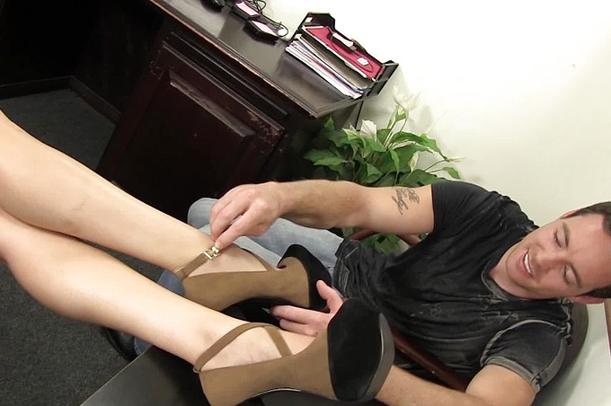 Hot Blonde Vanessa Cage Gets Fucked In Her Office