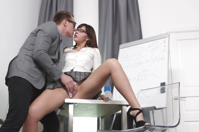 Super Hot Student Learns How To Fuck