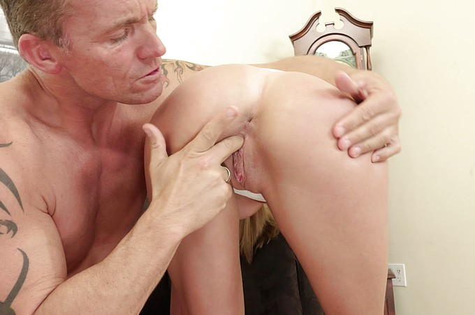 Blonde Russian Hottie Fucks Her Boss to Keep Her Job