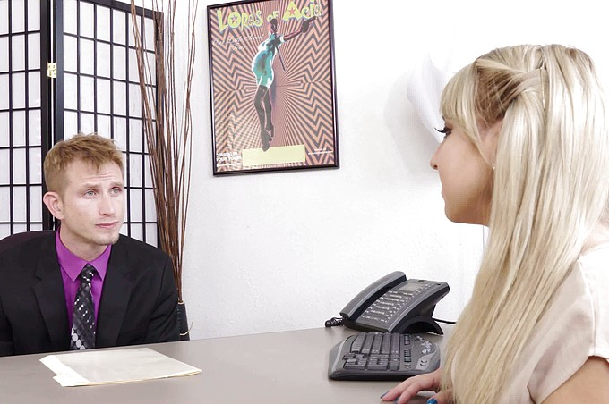 Voluptuous Blonde Valerie Taken Advantage of By Her Boss