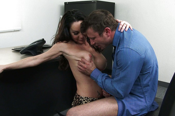Bossy MILF Dayton Rains Demands Sex From New Hire!